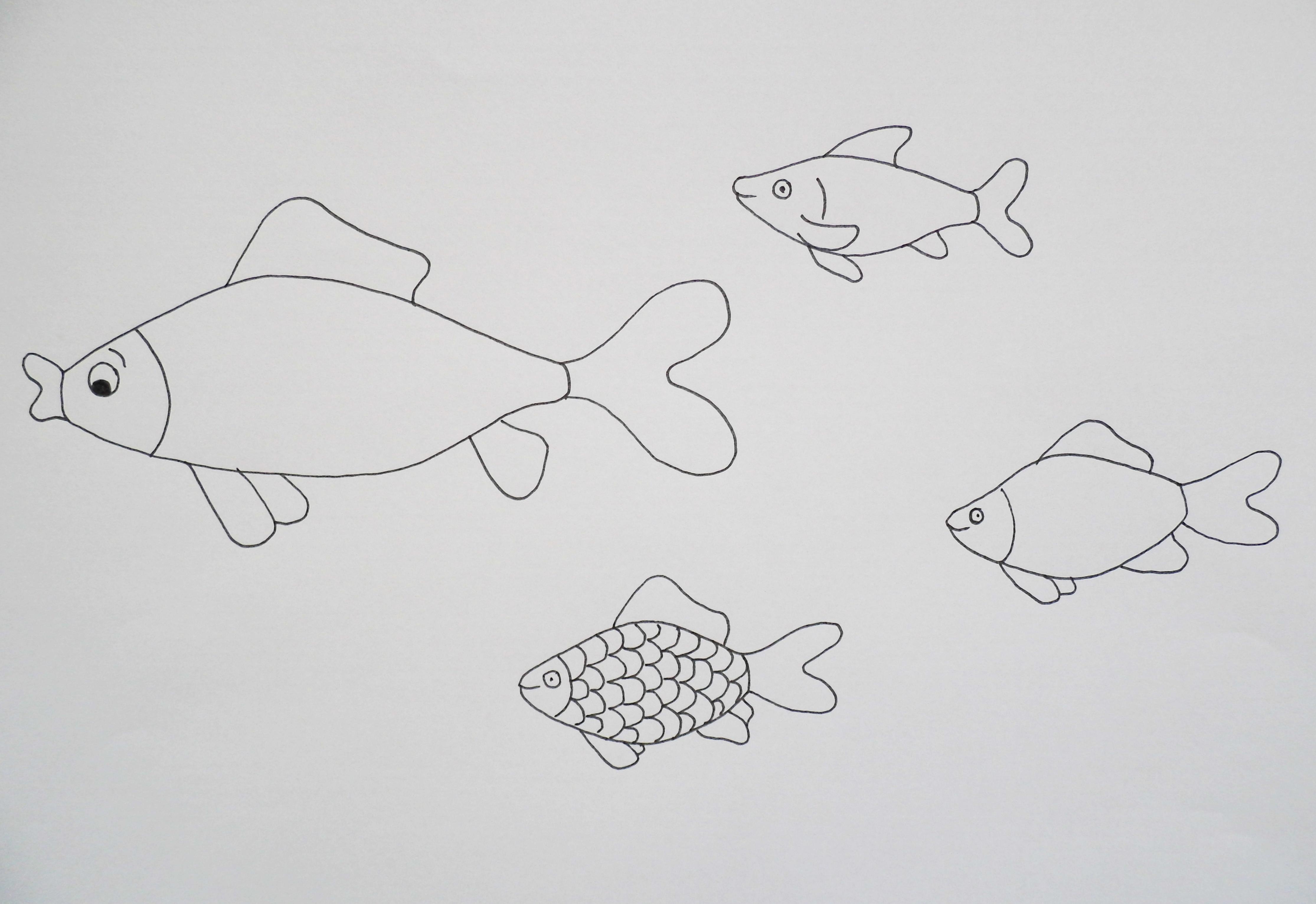 Fische zum ausdrucken bunt